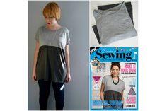 Tutorial: Easy color block t-shirt refashion | Sewing | CraftGossip | Bloglovin'