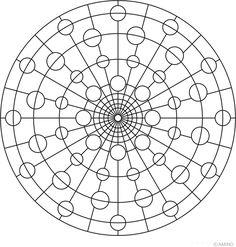 Free mandalas coloring > Universe Mandalas > Universe Mandala Design 5