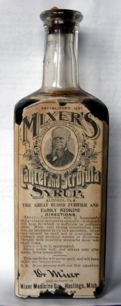 Cancer and Scrofula Syrup, 1861. Not too sure it worked. | 25 Health Products You'll Be Glad You Don't See Today