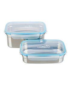 Take a look at this Stainless Steel 20-Oz. & 37-Oz. Clicks Container Set by LunchBots on #zulily today!