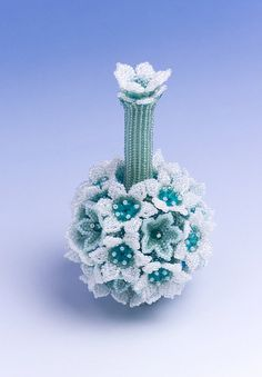 Hey, I found this really awesome Etsy listing at https://www.etsy.com/listing/205520053/flower-ball-decorative-vase-white-mint