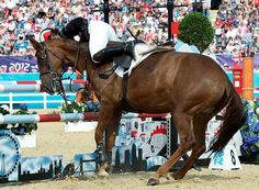 London Olympics 2012: Modern Pentathlon show jumping - in pictures