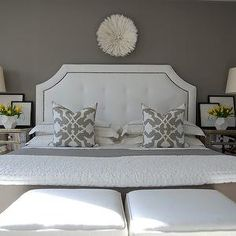 Gray Bedroom, Transitional, bedroom, Benjamin Moore Galveston Gray