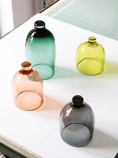 hand blown glass, bell jars, glass domes, glasses, colors, wine glass, design files, colour glass, colored glass