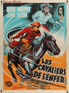 "Film: Posse from Hell (1961) Year poster printed: 1961 Country: France Exact Size: 23.5"" x 31.5"" Artist: Joseph Koutachy ""Together they team up as an avenging Posse from Hell!"" This is a rare, vintage"