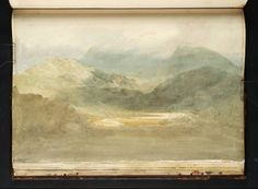 Joseph Mallord William Turner, '?Snowdon from the East, with the Valley of the River Llyfni and Llyn Dewarcheu' 1798