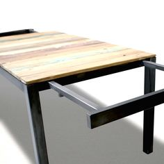 Industrial Style Table With Extensions Beautiful Kitchen Table Extension - - Extendable Kitchen Table, Expandable Dining Table, Diy Dining Table, Compact Furniture, Steel Furniture, Home Garden Design, Diy Desk, Beautiful Kitchens, Industrial Style