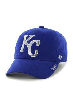 Kansas City Royals 47 Brand Hat - Womens Blue Sparkle Hat http://www.rallyhouse.com/47-brand-kansas-city-royals-royal-sparkle-womens-adjustable-hat-4806795?utm_source=pinterest&utm_medium=social&utm_campaign=Pinterest-KCRoyals $23.99