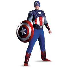 Disfraz Los Vengadores (The Avengers). Capitán America, musculoso
