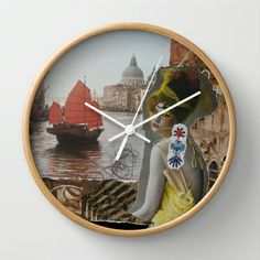 On the Edge of Something Inexpressible Wall Clock by Karlagirl Studios - $30.00