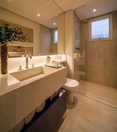 Banheiro clean e belo by Chris Silveira. Com destaque para a luz por baixo do espelho proporcionando ainda mais aconchego ao espaço. Amei Me encontre também no @pontodecor {HI} Snap:  hi.homeidea  http://ift.tt/23aANCi #bloghomeidea #olioliteam #arquitetura #ambiente #archdecor #archdesign #hi #cozinha #homestyle #home #homedecor #pontodecor #homedesign #photooftheday #love #interiordesign #interiores  #picoftheday #decoration #world  #lovedecor #architecture #archlovers #inspiration…
