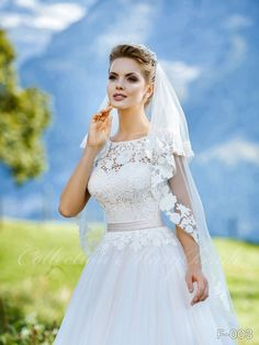 Wedding Dress - Sans Pareil Bridal Collection 1053 - Floral lace yoke over gathered chiffon A-line wedding dress Instagram Wedding, Bridal Gowns, Wedding Dresses, Bridal Stores, Chiffon Skirt, Embroidered Lace, On Your Wedding Day, Bridal Collection, Floral Lace