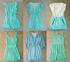 Feminine Mint Dresses <3