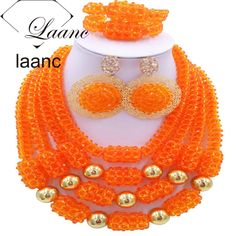 Find More Jewelry Sets Information about bridal jewelry african wedding beads necklace set orange AL104,High Quality Jewelry Sets from laanc african beads Store on Aliexpress.com