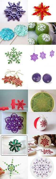 Colorful Snowflake by Meg on Etsy--Pinned with TreasuryPin.com