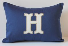 Monogram Pillow Cover - Chevron - Letter Initial - 12 x 16 - Custom Personalized - Nursery Decor - Dorm Decor - Wedding Bridal - Home Decor