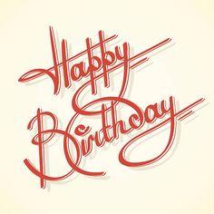 Calligraphie Joyeux anniversaire - Illustration vectorielle