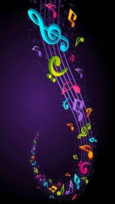 Musik Wallpaper, More Wallpaper, Tumblr Wallpaper, Colorful Wallpaper, Nature Wallpaper, Wallpaper Backgrounds, Unique Wallpaper, Music Notes Art, Music Artwork