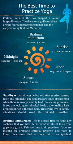 Infographic - The Best Time to Practice Yoga