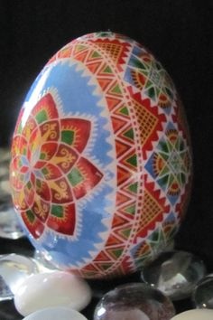 Duck Egg Pysanka by Katrina Lazarev, Ukraine, from Iryna