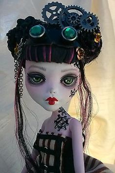 OOAK repaint Monster High doll Steampunk Draculaura