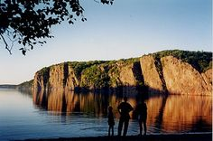 Bon Echo Provincial Park, Ontario...in a tent with a 8 month old.