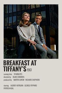 Alternative Minimalist Movie/Show Polaroid Poster - Breakfast at Tiffany's - Iconic Movie Posters, Minimal Movie Posters, Minimal Poster, Cinema Posters, Movie Poster Art, Iconic Movies, Poster Wall, Movie Collage, Film Poster Design