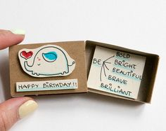 Geburtstag Karte Matchbox / süße Geburtstagskarte / von shop3xu