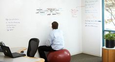 Whiteboard wall paint is awesome for the office