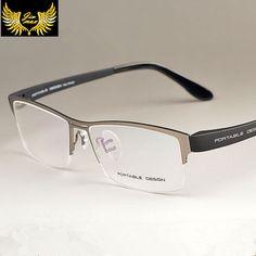 584efec804 2016 New Arrival Men Style Titanium Alloy Half Rim Eye Glasses Fashion  Design Men's Eyeglasses Casual
