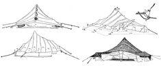 Al Khayma  drawings by Julio Caro Baroja (Estudios saharianos, 1955)