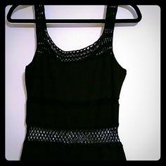 Black dress with crochet Cotton / Spandex gorgeous dress good quality only worn once.? Vivienne Tam Dresses Maxi