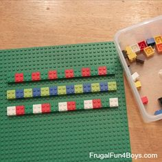 Six pattern activities - Dot patterns, snack pattern, Lego patterns, etc. Love these!