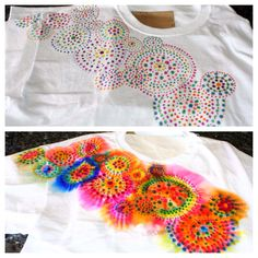 Complex sharpie tie dye - have to do this for first week of school!!!