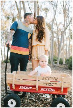 Phelans | family photos | Eden Day Photography | one year old red wagon radio flyer la jolla eucalyptus