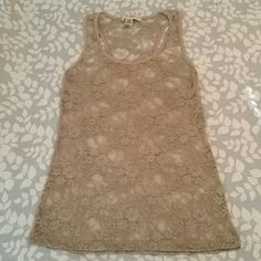 BOZZOLO tan lace tank Great condition Bozzolo Tops Tank Tops