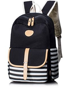 Leaper Cute Thickened Canvas School Backpack Laptop Bag S...