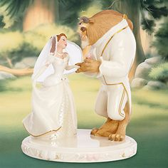 Belle's Wedding Dreams Cake Topper Crafted of hand-painted Lenox ivory fine…