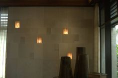 Lighted Niches in StonePly Natural Stone Cladding and Wall Covering