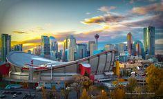 Calgary, Alberta. The Saddledome Hockey WOOT WOOT