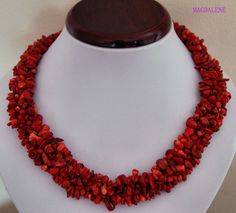 Coral Necklace , UK jewellery, EASTER, FRESH £15.00