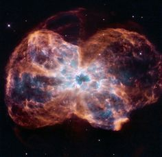 "This image, taken by NASA's Hubble Space Telescope, shows the colorful ""last hurrah"" of a star like our Sun."