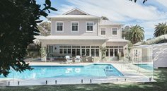 Create Your Own Hamptons Home Look - Renovations and New Home Designs Die Hamptons, Hamptons Style Homes, Hamptons Decor, My Pool, Wall Cladding, Exterior Colors, Home Improvement Projects, Old Houses, Outdoor Living