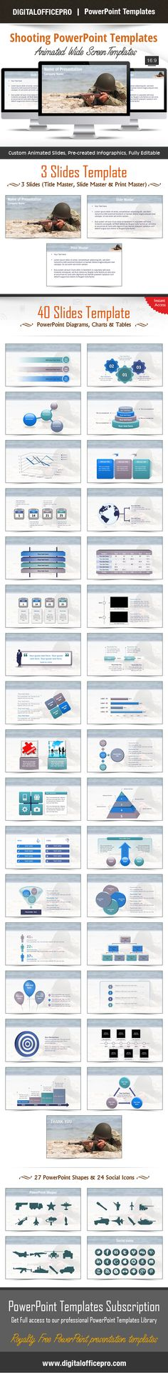 Shooting Makeup Powerpoint Template Backgrounds