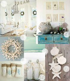 Coastal Christmas design board  #Coastal #Beach #Christmas #InteriorDesign