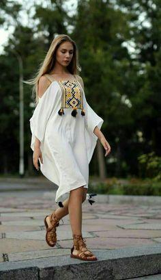 Hijab Fashion, Boho Fashion, Fashion Dresses, Simple Dresses, Nice Dresses, Summer Dresses, African Fashion, Indian Fashion, Mode Boho