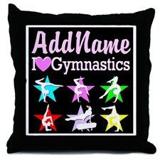 SUPER STAR GYMNAST Throw Pillow Personalized Gymnastics Tees and Gifts for your awesome Gymnast http://www.cafepress.com/sportsstar/10114301 #Gymnastics #Gymnast #WomensGymnastics #Lovegymnastics #PersonalizedGymnast