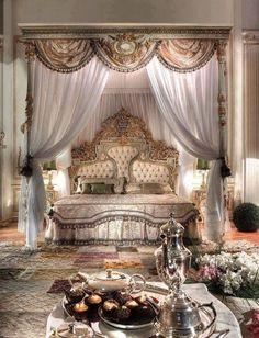 Wonderful Luxury Bedroom Furniture Ideas : Luxury Italian Bedroom Design - Luxury Homes Dream Rooms, Dream Bedroom, Home Bedroom, Bedroom Furniture, Bedroom Ideas, Furniture Ideas, Royal Bedroom, Castle Bedroom, Queen Bedroom