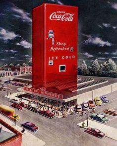 """«Coca Cola, 1948». Rememorando el otrora buen negocio de hamburguesas """"El Corral""""."""