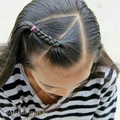 These quick easy hairstyles are stylish. Girls Hairdos, Lil Girl Hairstyles, Pretty Hairstyles, Teenage Hairstyles, Easy Hairstyles, Hairdos For Little Girls, Hairstyles 2016, Toddler Hair, Toddler Girls